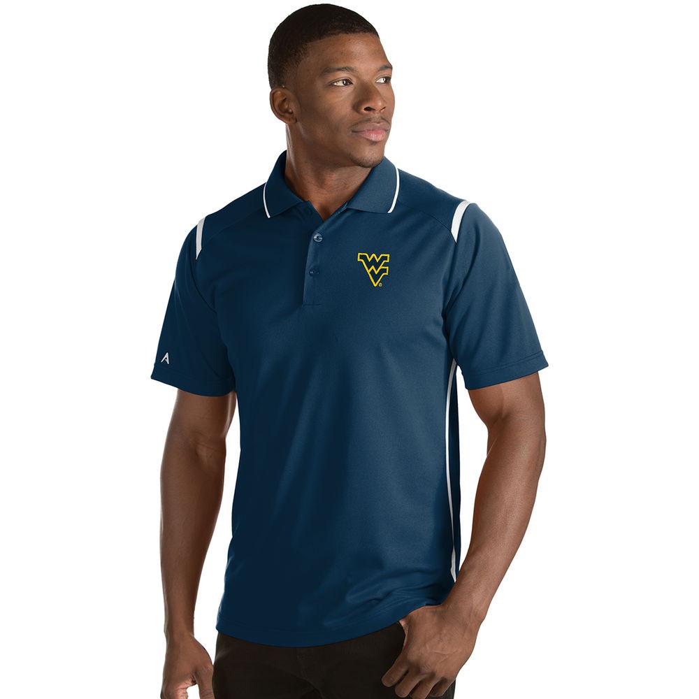 アンティグア Antigua メンズ トップス ポロシャツ【West Virginia Mountaineers Adult Merit Polo】Navy