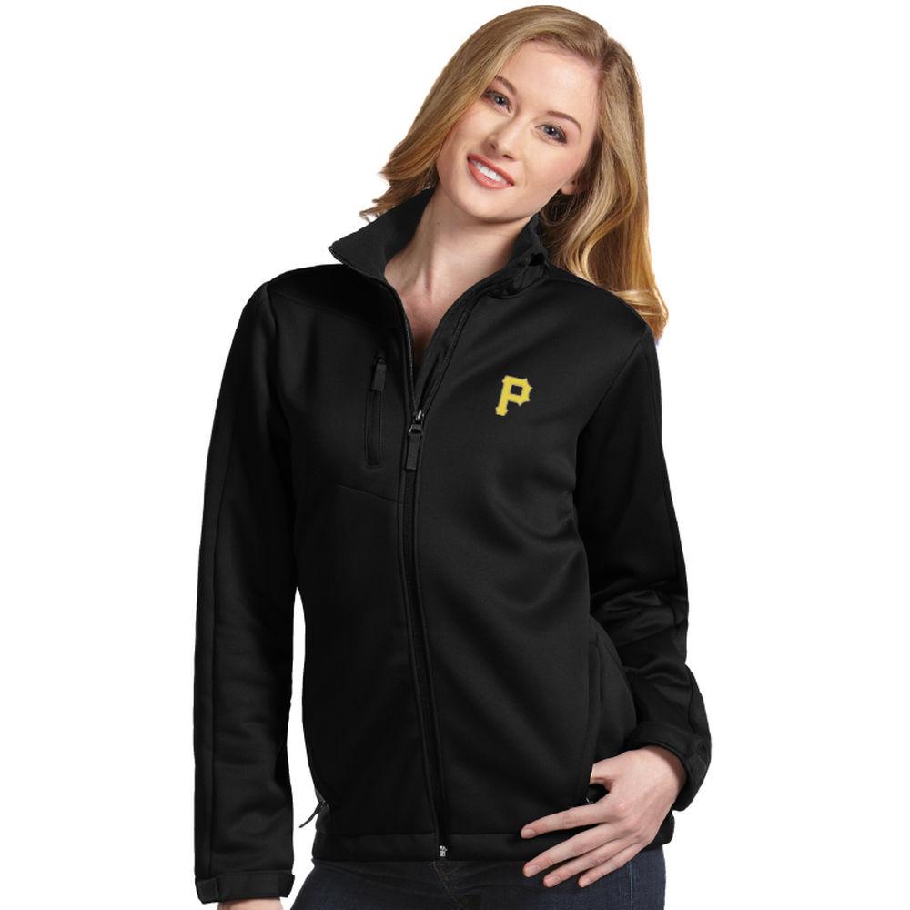 アンティグア Antigua レディース アウター ジャケット【Pittsburgh Pirates Traverse Fleece back Jacket】Black