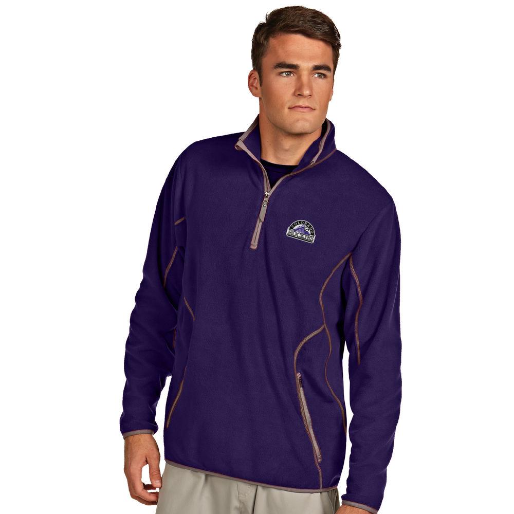 アンティグア Antigua メンズ トップス フリース【Colorado Rockies Ice Polar Fleece Quarter Zip Pullover】Dark Purple