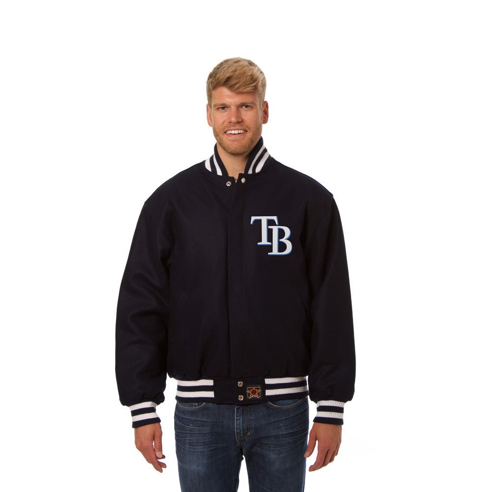 JH デザイン JH Design メンズ アウター ジャケット【Tampa Bay Rays Adult Wool Jacket】Navy