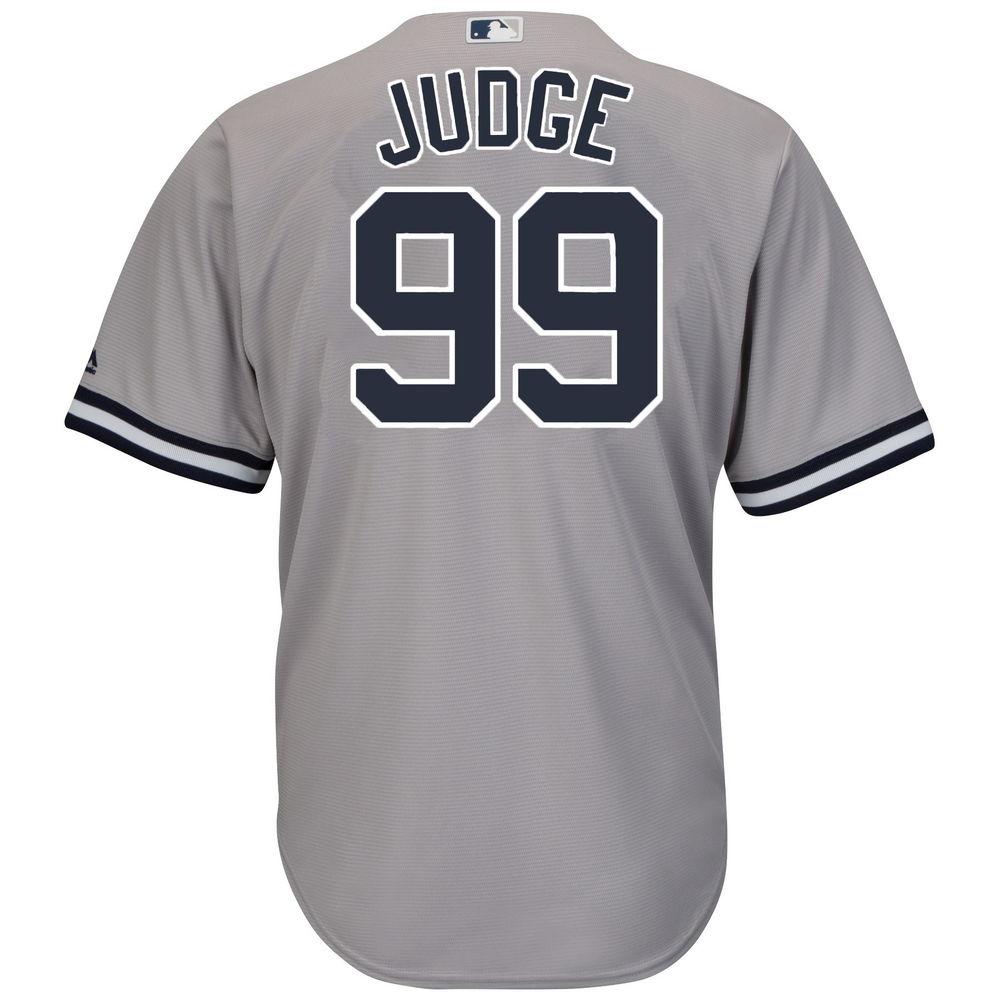 マジェスティック Majestic メンズ トップス【New York Yankees Adult Aaron Judge Cool Base Jersey (Big & Tall)】Grey