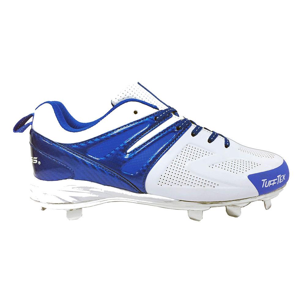 ローリングス Rawlings メンズ 野球 シューズ・靴【Conquer Low Metal Baseball Cleat】White/Blue