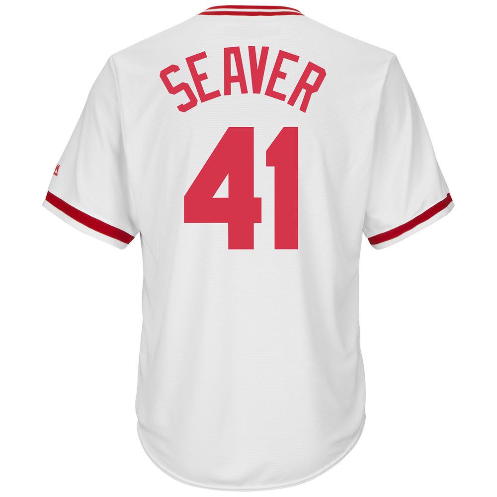 マジェスティック Majestic メンズ トップス【Cincinnati Reds Adult Tom Seaver Cooperstown Collection Cool Base Jersey】White