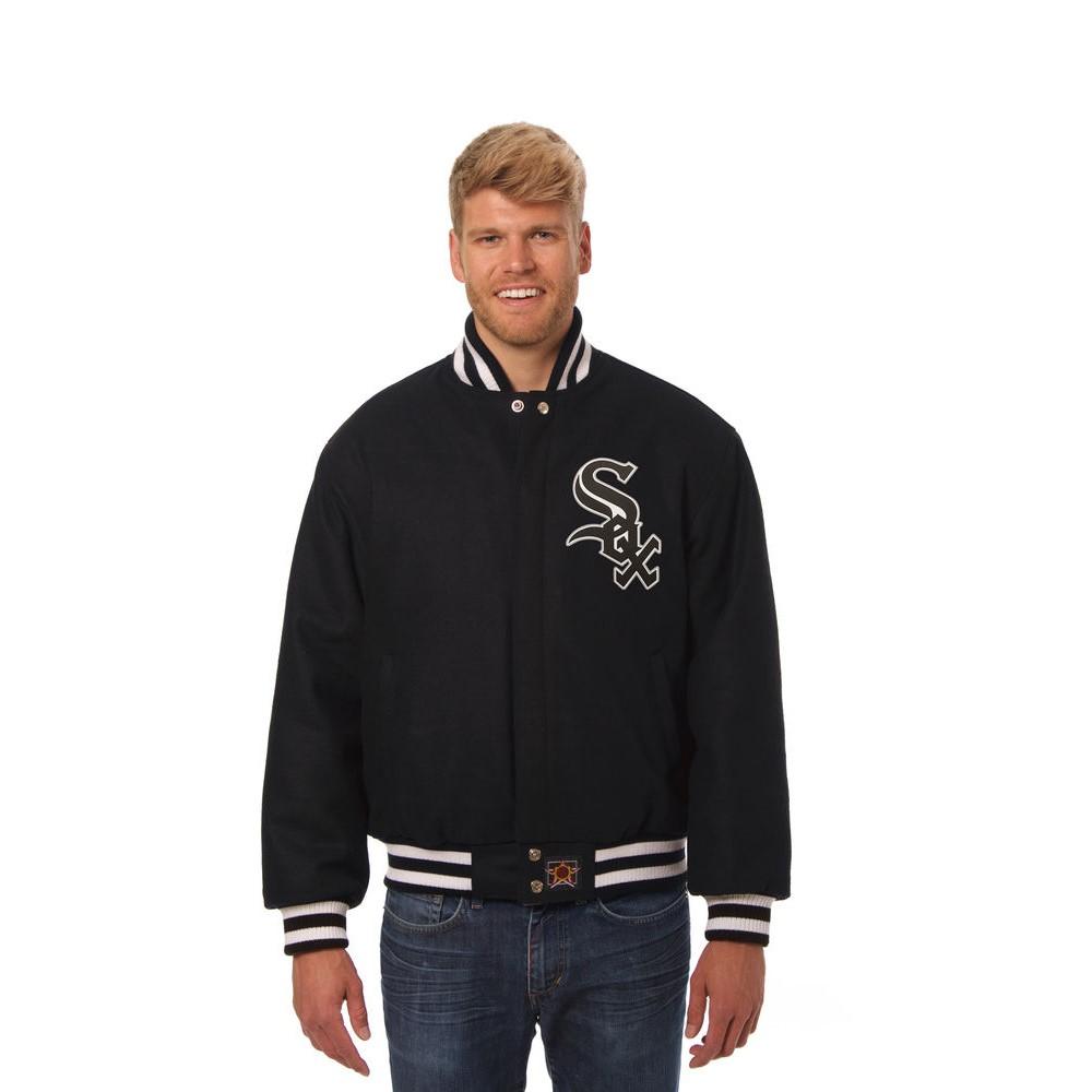 JH デザイン JH Design メンズ アウター ジャケット【Chicago White Sox Adult Wool Jacket】Black