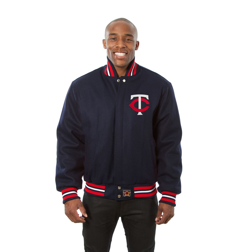 JH デザイン JH Design メンズ アウター ジャケット【Minnesota Twins Adult Wool Jacket】Navy