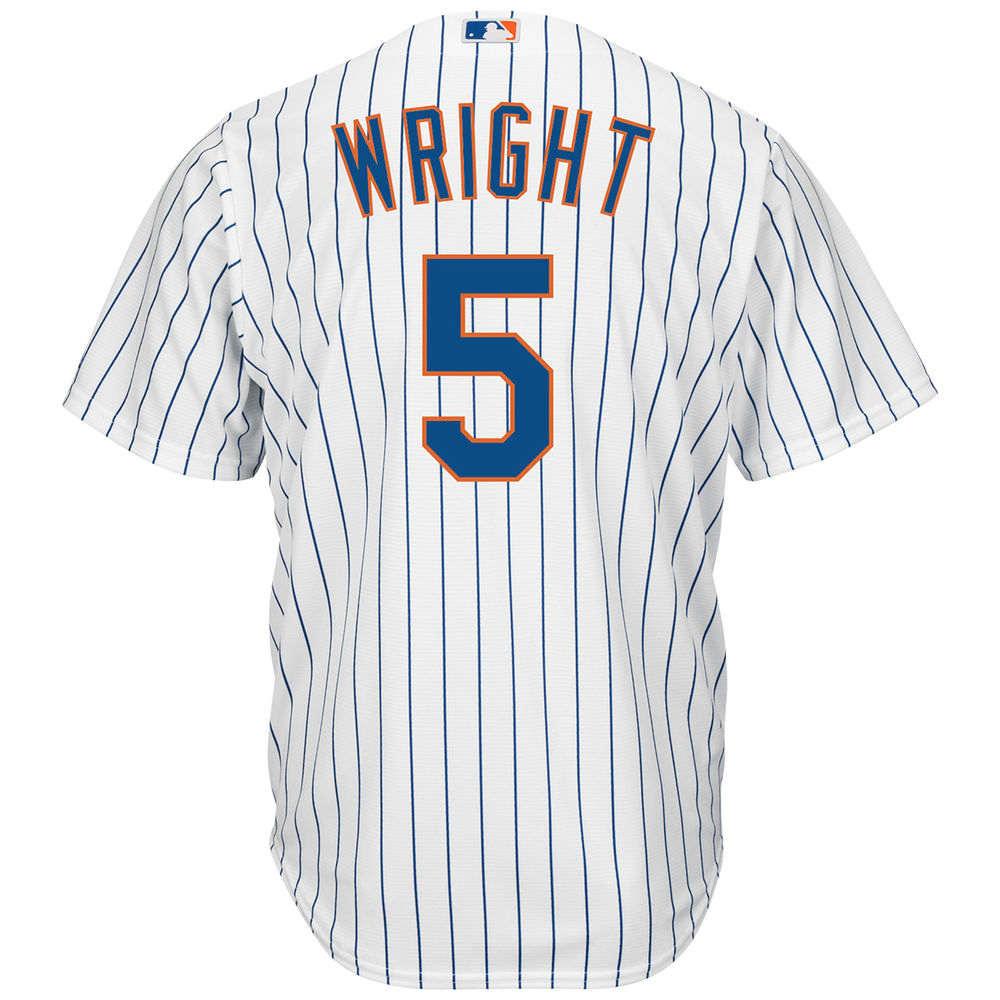 マジェスティック Majestic メンズ トップス【New York Mets David Wright Adult Cool Base Replica Jersey】White
