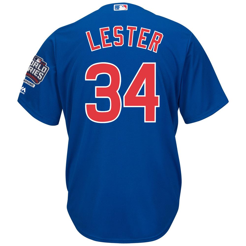 マジェスティック Majestic メンズ トップス【Chicago Cubs Adult Jon Lester World Series Champions Cool Base Jersey】Royal