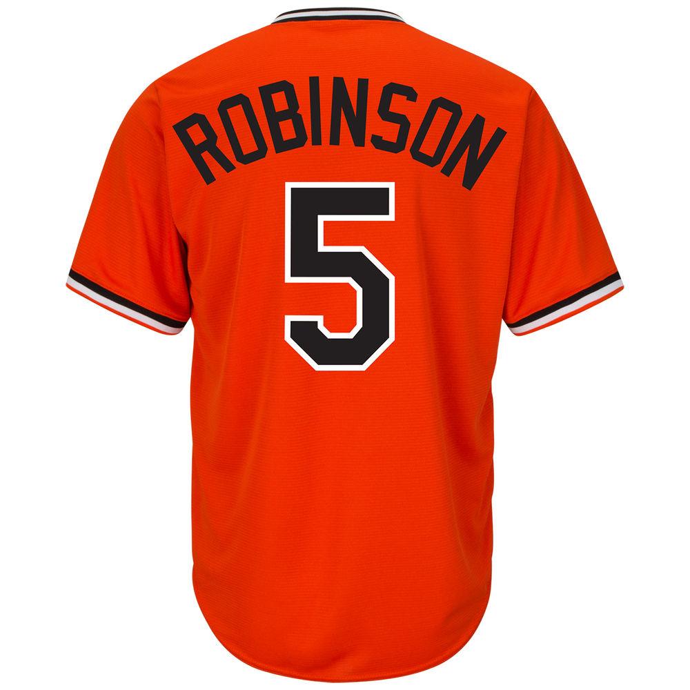 マジェスティック Majestic メンズ トップス【Baltimore Orioles Adult Brooks Robinson Cooperstown Collection Cool Base Jersey】Orange