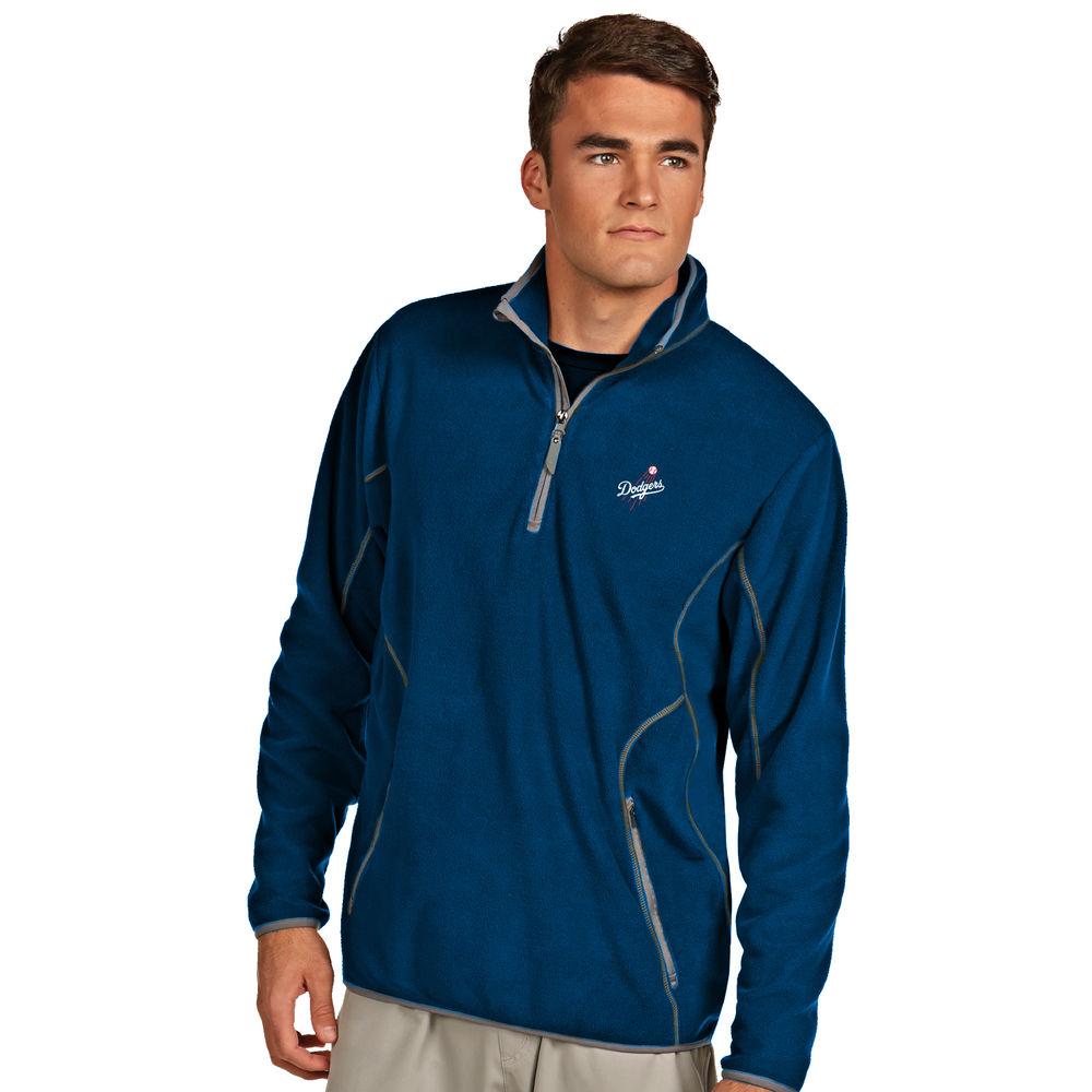 アンティグア Antigua メンズ トップス フリース【Los Angeles Dodgers Ice Polar Fleece Quarter Zip Pullover】Royal