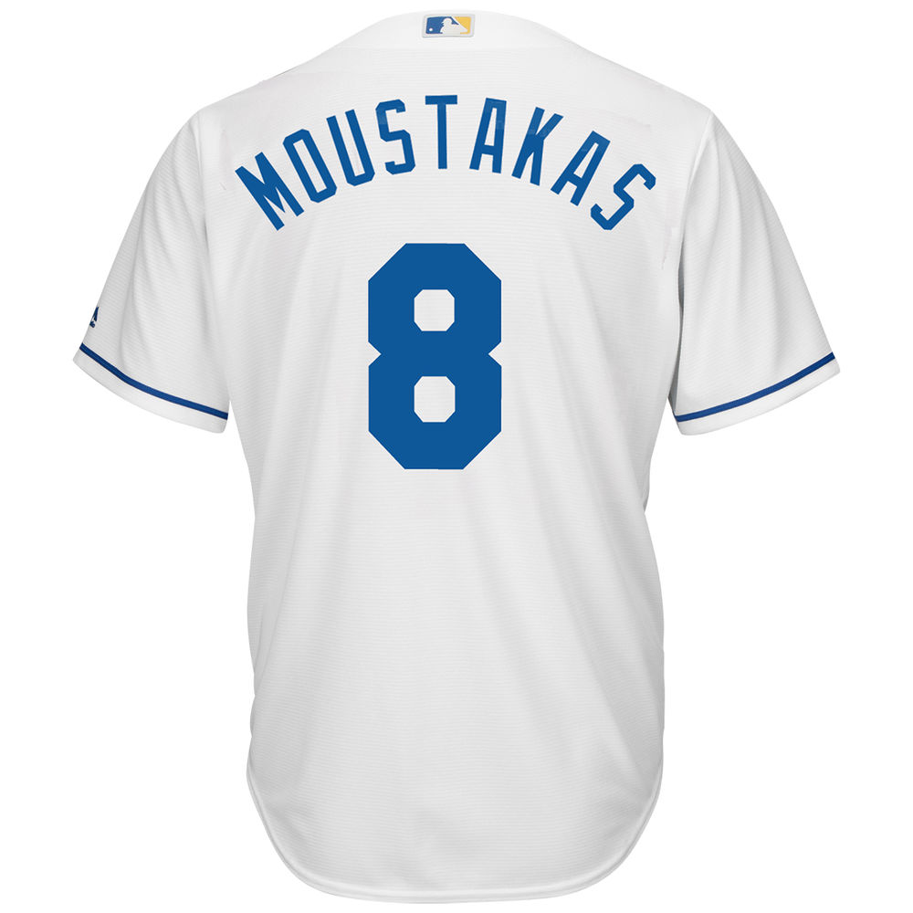 マジェスティック Majestic メンズ トップス【Kansas City Royals Mike Moustakas Adult Cool Base Replica Jersey】White