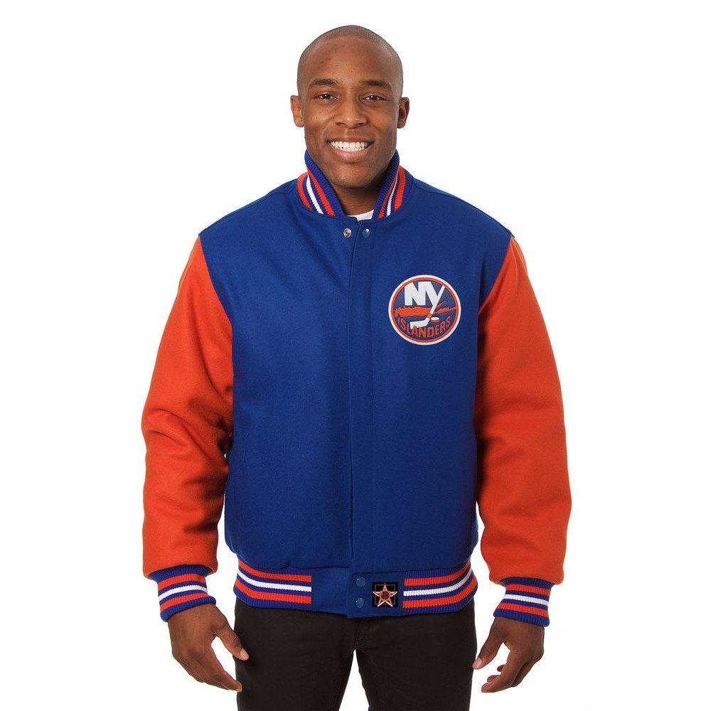 JH デザイン JH Design メンズ アウター ジャケット【New York Islanders Adult Wool Jacket】Blue/Orange