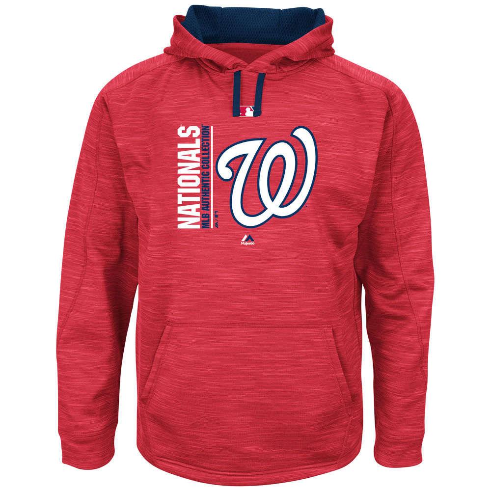 マジェスティック Majestic メンズ トップス フリース【Washington Nationals Big Authentic Collection Icon Streak Fleece Hoodie (Big & Tall)】Red