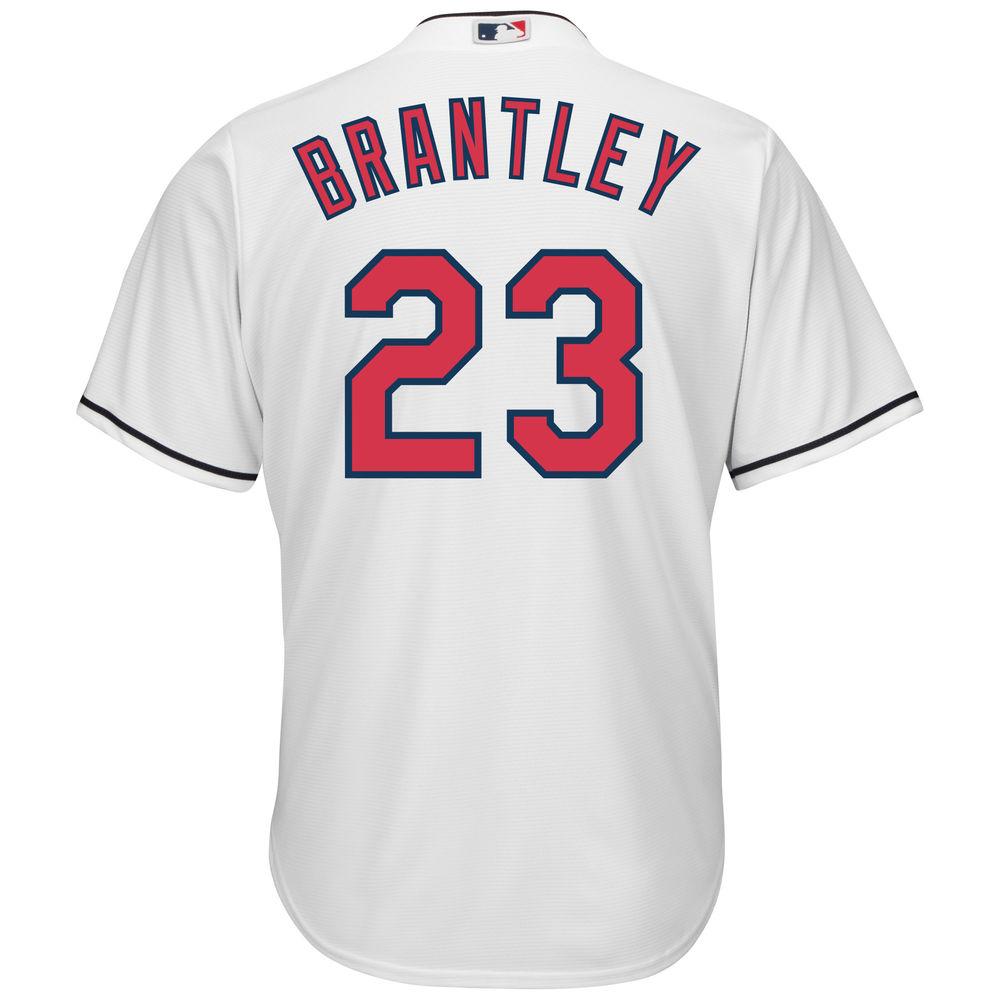 マジェスティック Majestic メンズ トップス【Cleveland Indians Michael Brantley Adult Cool Base Replica Jersey】White