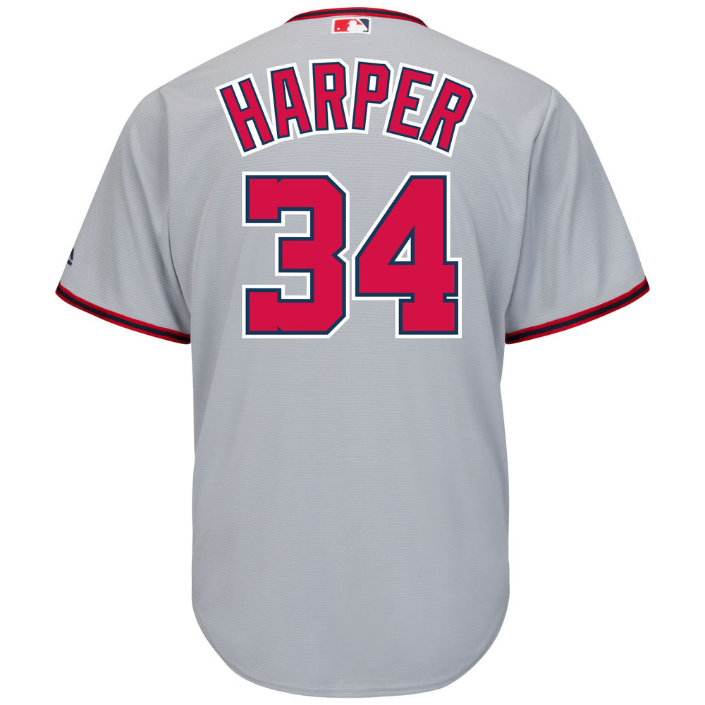 マジェスティック Majestic メンズ トップス【Washington Nationals Bryce Harper Adult Cool Base Replica Jersey】Grey