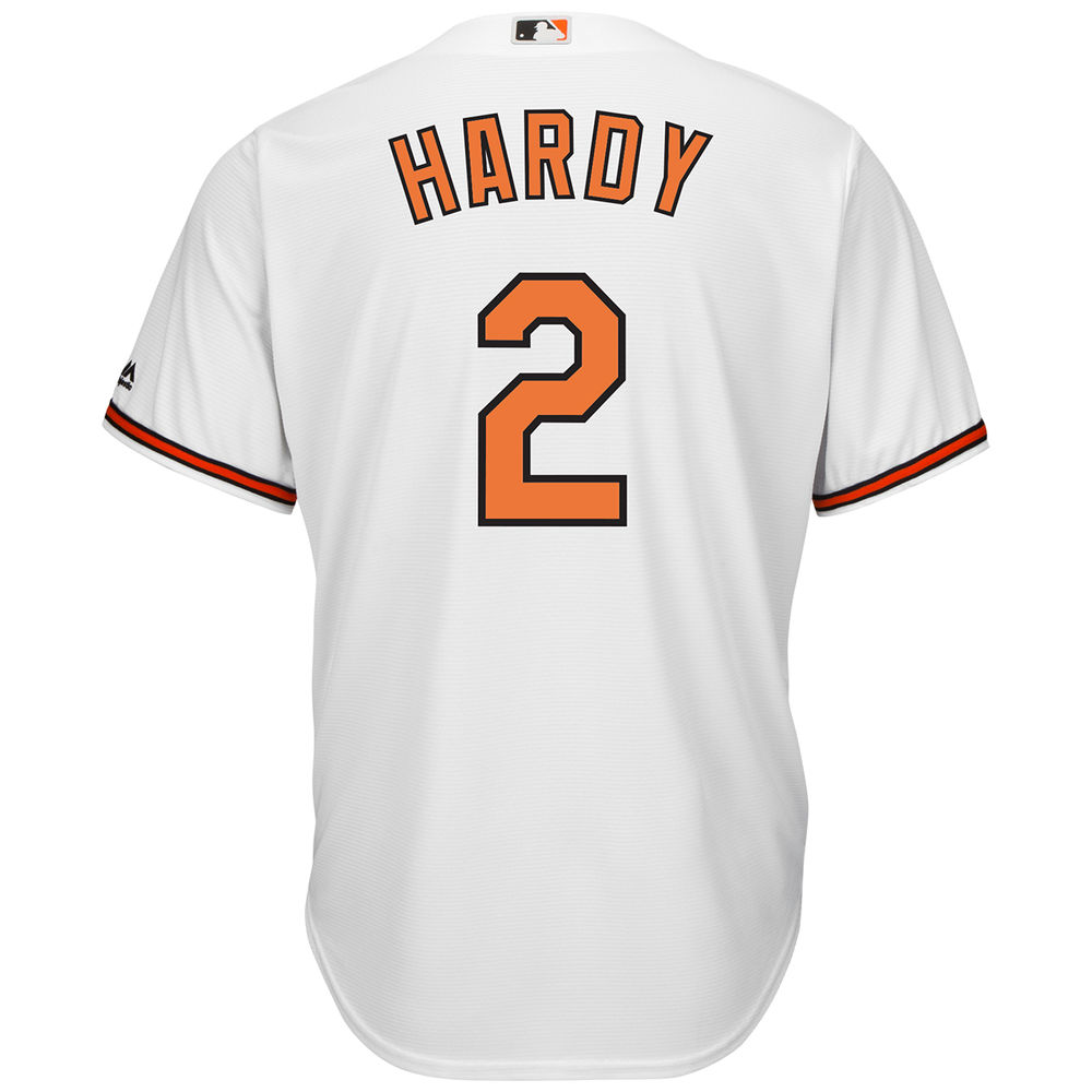 マジェスティック Majestic メンズ トップス【Baltimore Orioles J.J. Hardy Adult Cool Base Replica Jersey】White