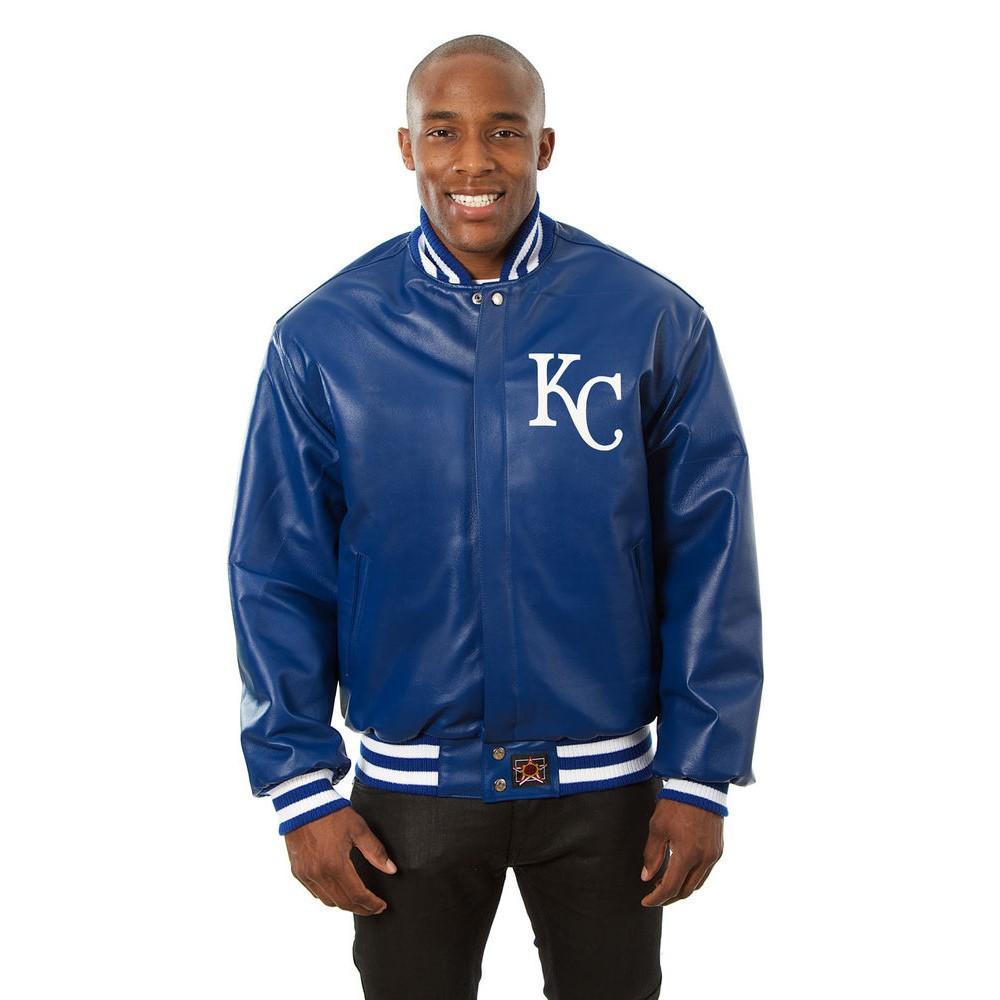 JH デザイン JH Design メンズ アウター レザージャケット【Kansas City Royals Adult Leather Jacket】Royal