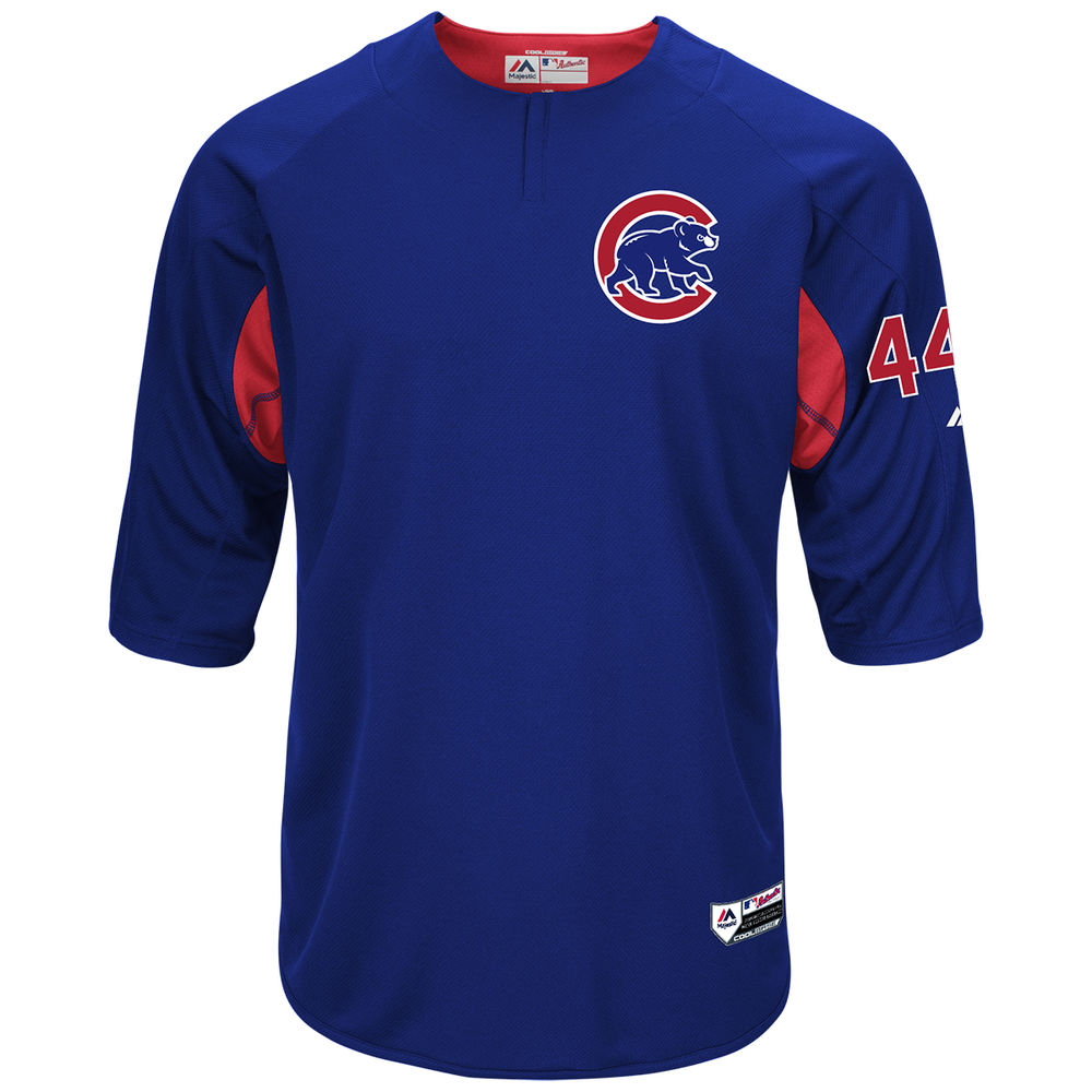 マジェスティック Majestic メンズ トップス【Chicago Cubs Adult Anthony Rizzo Authentic Collection On-Field 3/4-Sleeve Batting Practice Jersey】Royal