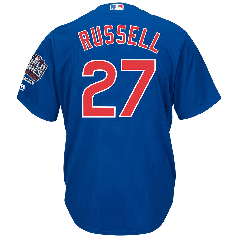 マジェスティック Majestic メンズ トップス【Chicago Cubs Adult Addison Russell World Series Champions Cool Base Jersey】Royal
