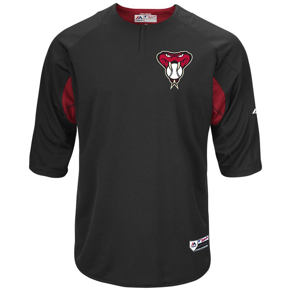 マジェスティック Majestic メンズ トップス【Arizona Diamondbacks Adult Authentic Collection On-Field 3/4-Sleeve Batting Practice Jersey】Black