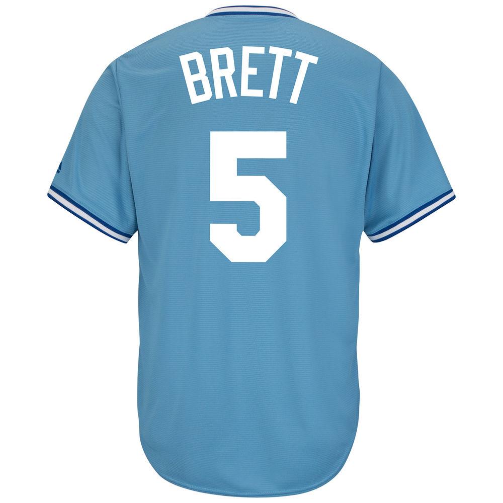 マジェスティック Majestic メンズ トップス【Kansas City Royals Adult George Brett Cooperstown Collection Jersey】Open Miscellaneous