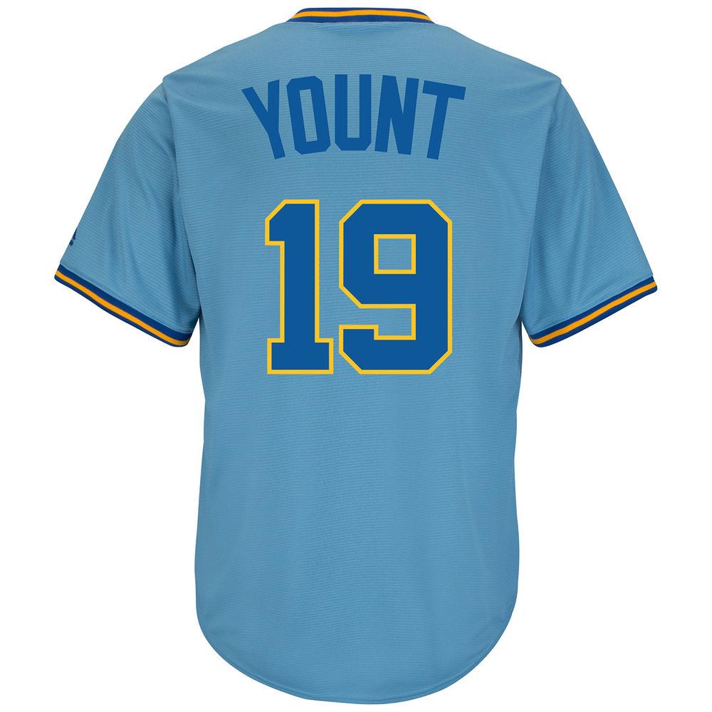 マジェスティック Majestic メンズ トップス【Milwaukee Brewers Adult Robin Yount Cooperstown Collection Jersey】