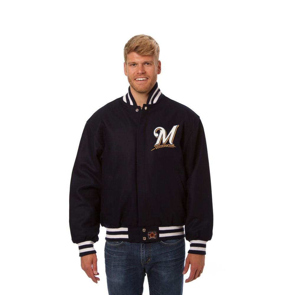 JH デザイン JH Design メンズ アウター ジャケット【Milwaukee Brewers Adult Wool Jacket】Navy