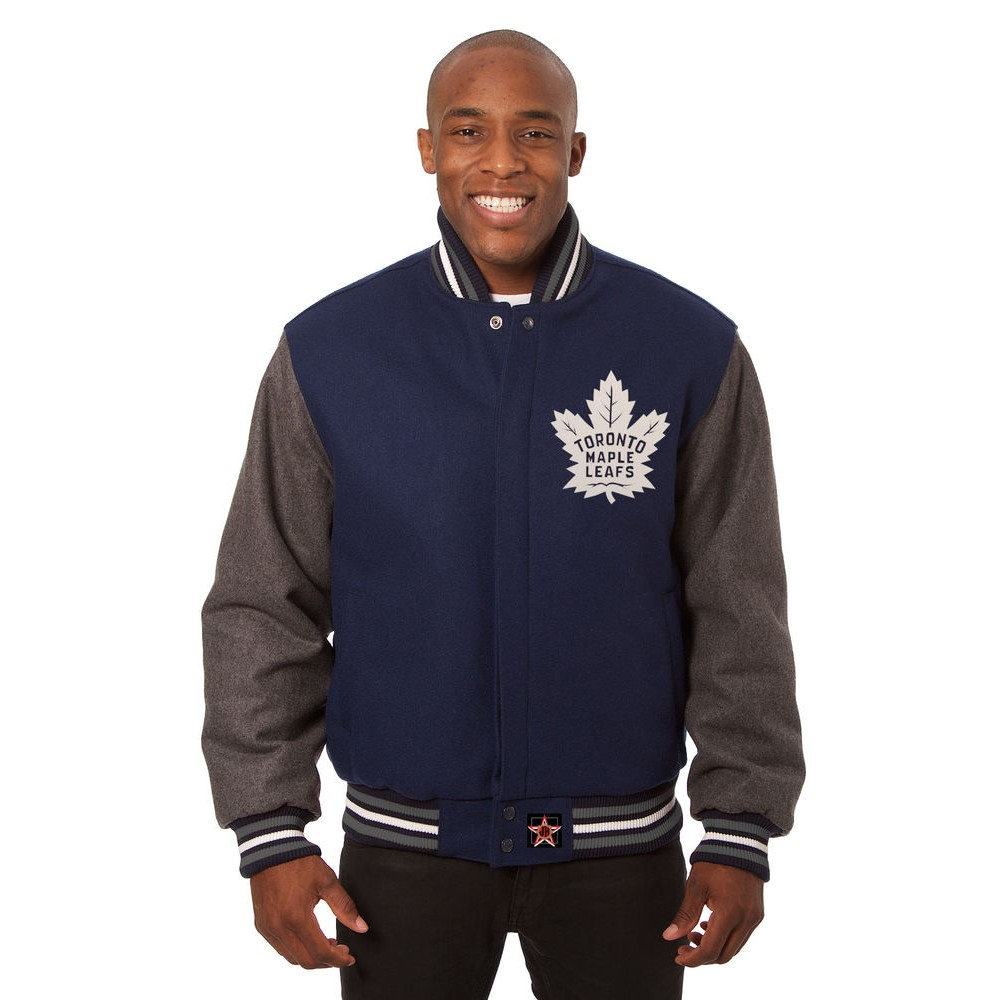 JH デザイン JH Design メンズ アウター ジャケット【Toronto Maple Leafs Adult Wool Jacket】Blue/Grey
