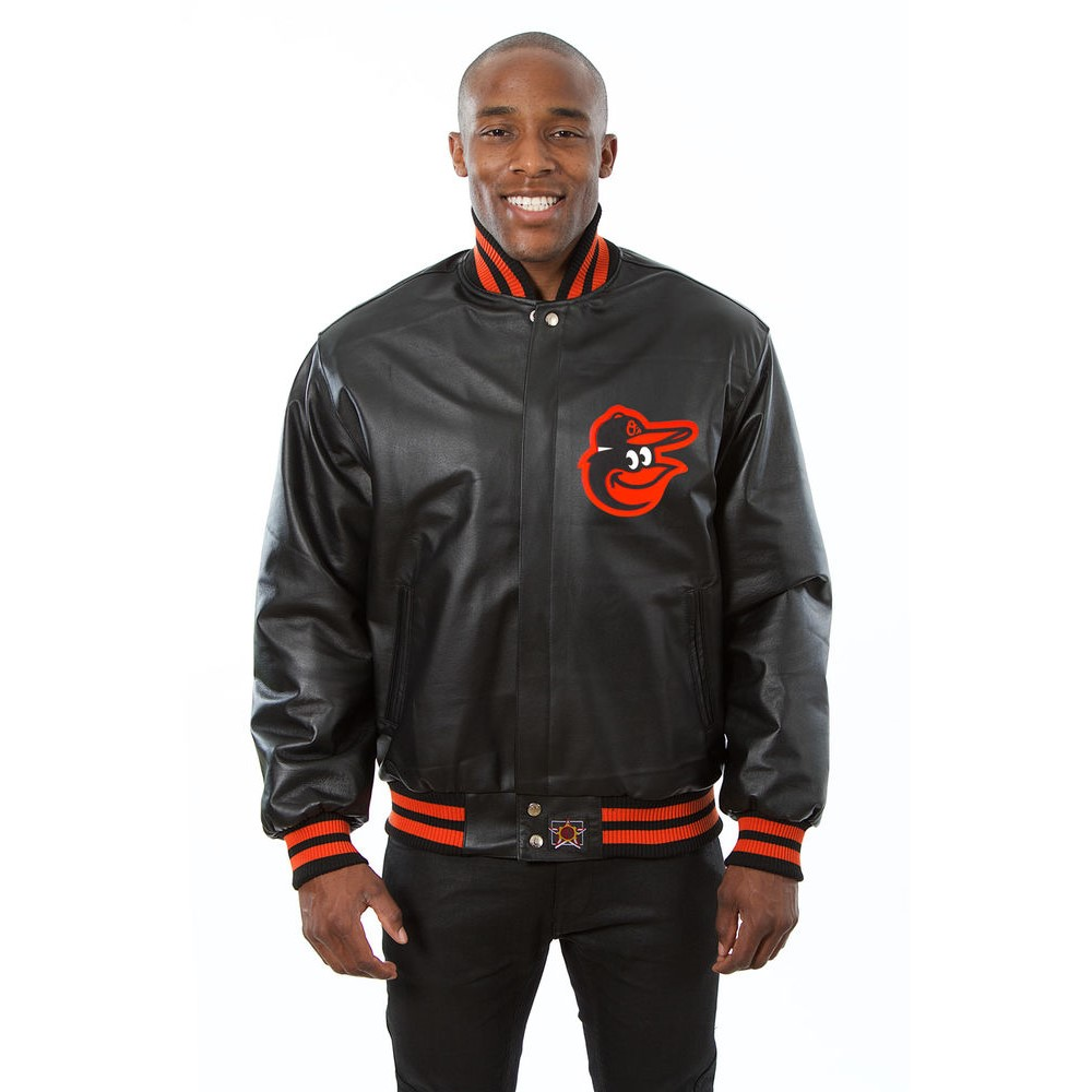 JH デザイン JH Design メンズ アウター レザージャケット【Baltimore Orioles Adult Leather Jacket】Black