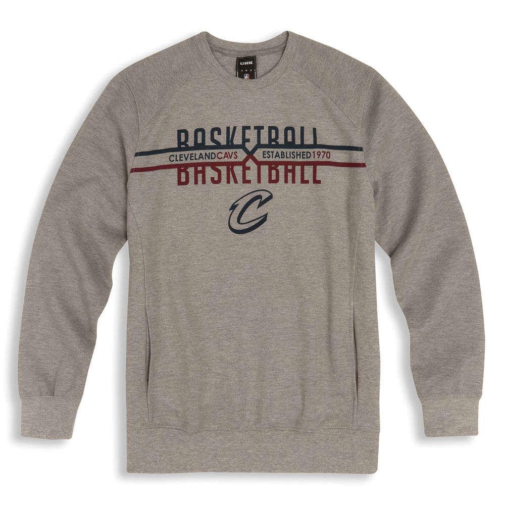 アンク UNK メンズ トップス スウェット・トレーナー【Cleveland Cavaliers Adult Crew Neck Sweatshirt】Grey
