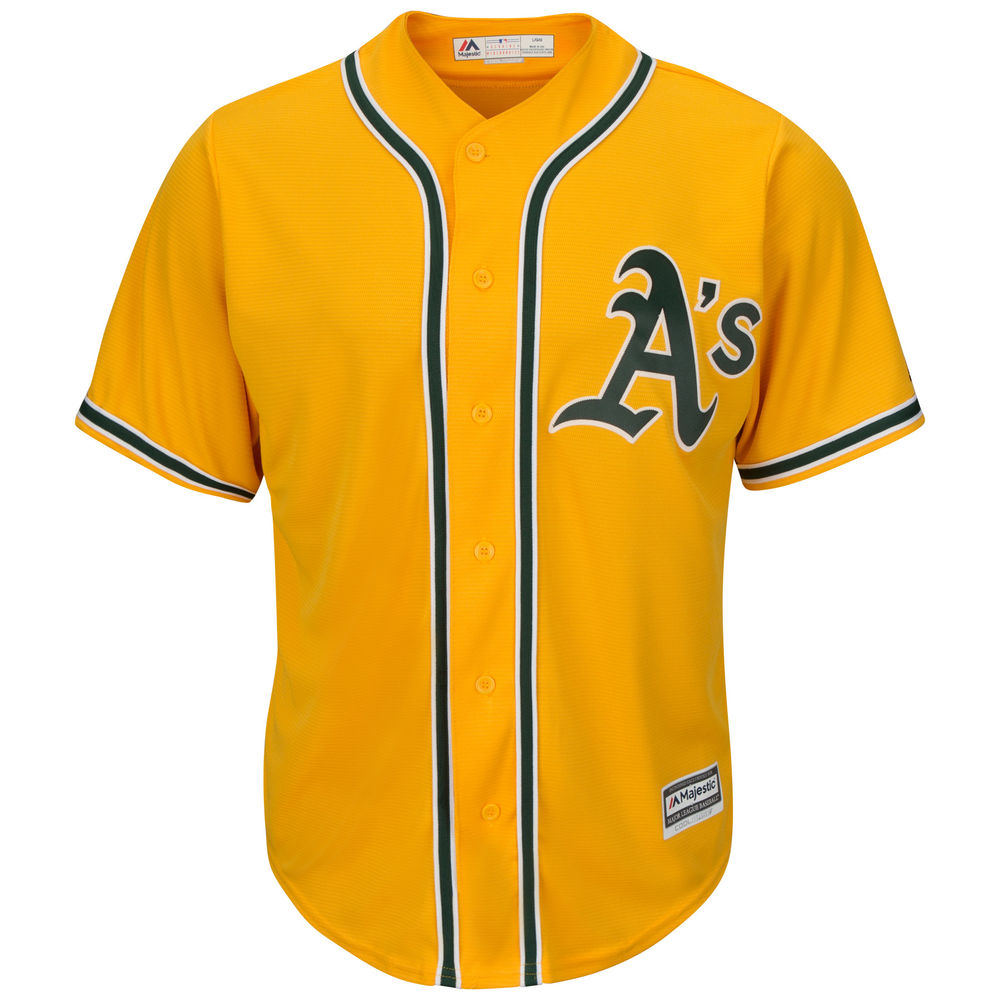 マジェスティック Majestic メンズ トップス【Oakland Athletics Adult Cool Base Replica Jersey】Gold