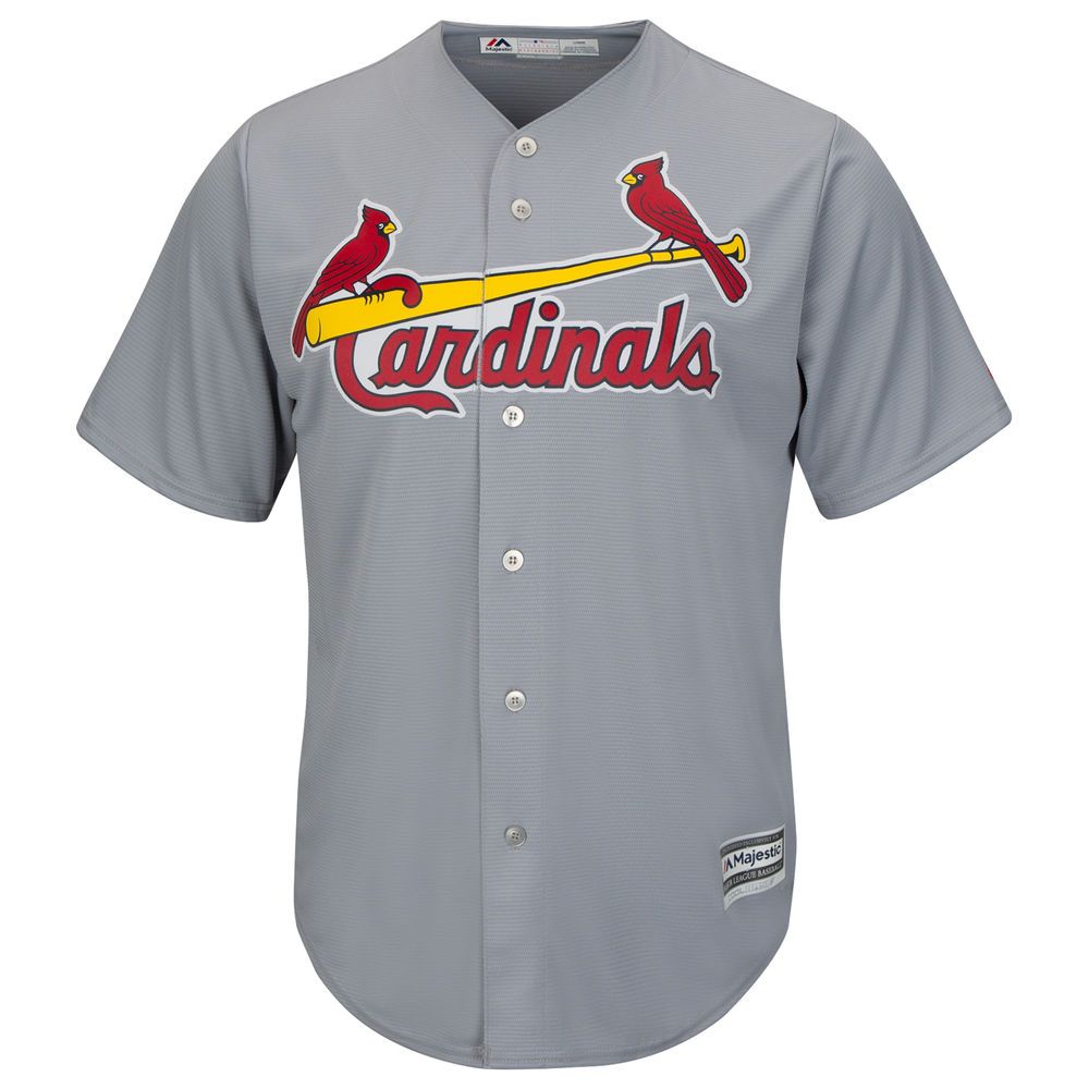 マジェスティック Majestic メンズ トップス【St. Louis Cardinals Adult Cool Base Replica Jersey】Grey