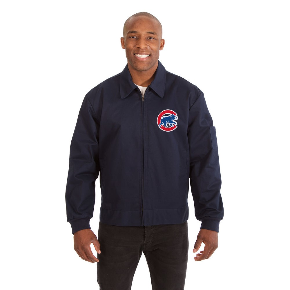JH デザイン JH Design メンズ アウター ジャケット【Chicago Cubs Adult Workwear Jacket】Navy