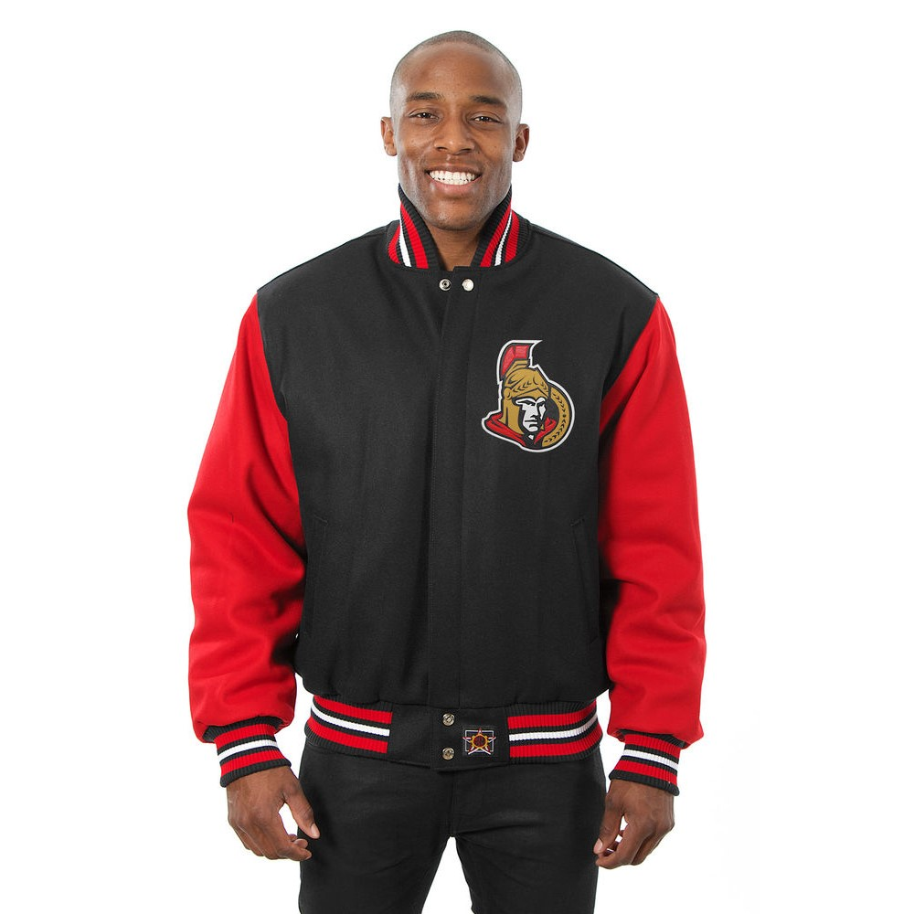 JH デザイン JH Design メンズ アウター ジャケット【Ottawa Senators Adult Wool Jacket】Black/Red