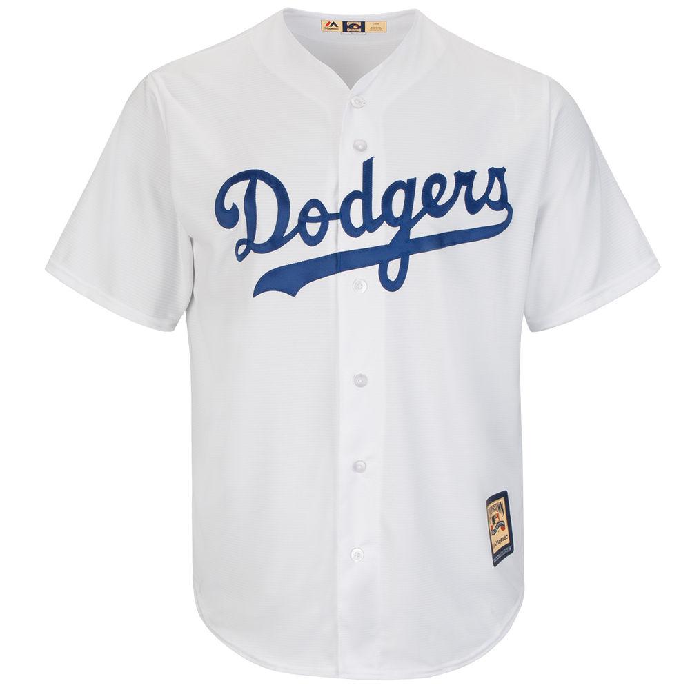 マジェスティック Majestic メンズ トップス【Brooklyn Dodgers Adult Cool Base Replica Jersey】White