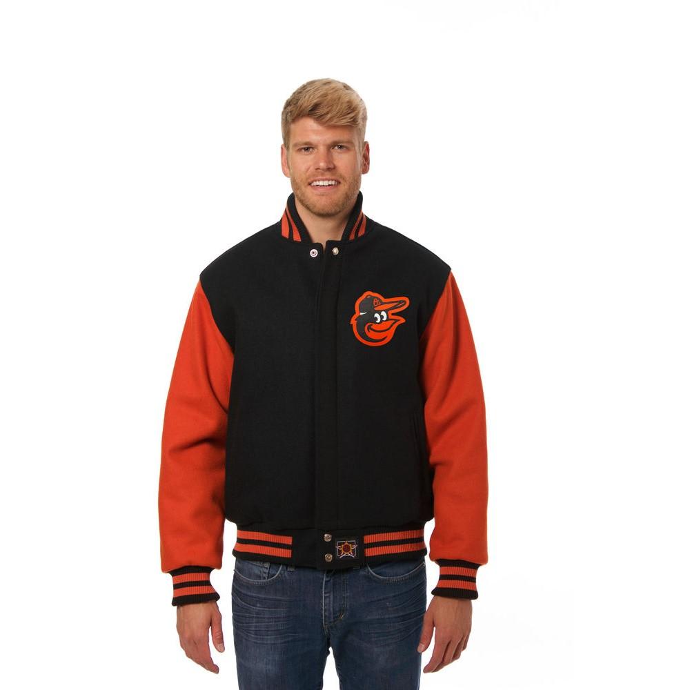 JH デザイン JH Design メンズ アウター ジャケット【Baltimore Orioles Adult Wool Jacket】Black/Orange