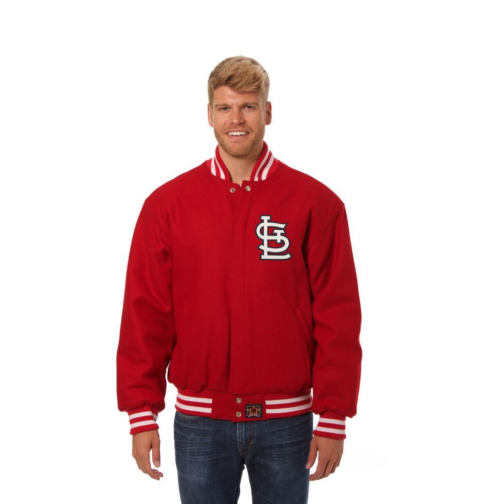 JH デザイン JH Design メンズ アウター ジャケット【St. Louis Cardinals Adult Wool Jacket】Black
