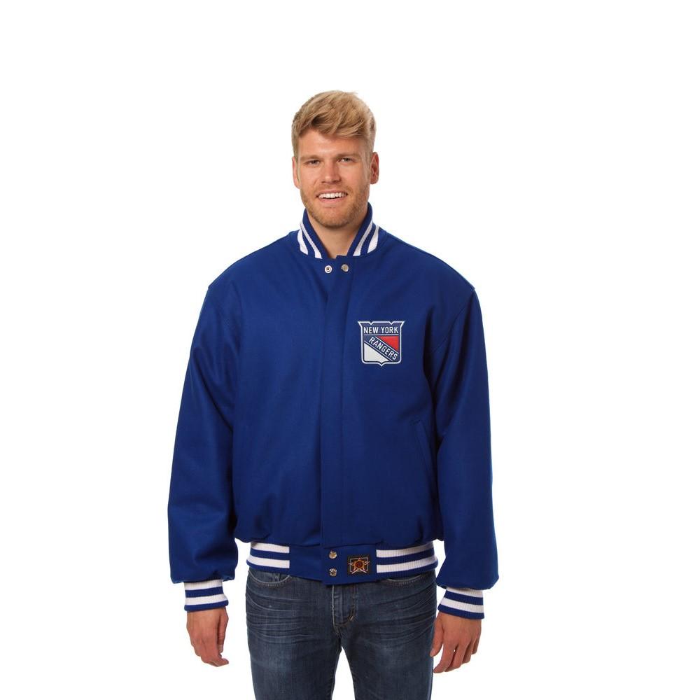 JH デザイン JH Design メンズ アウター ジャケット【New York Rangers Adult Wool Jacket】Royal