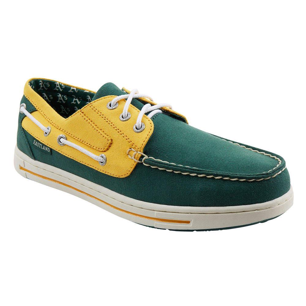 イーストランド Eastland メンズ シューズ・靴 デッキシューズ【Adventure Oakland Athletics Boat Shoe】Green