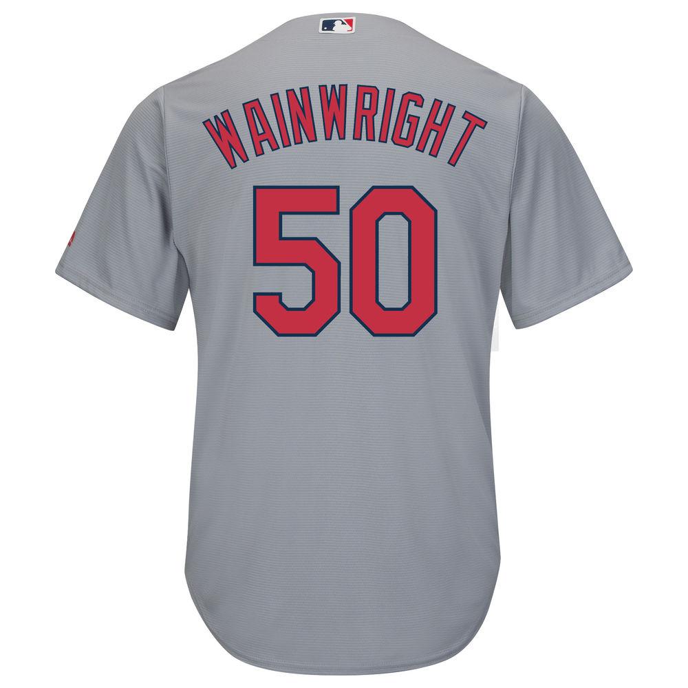 マジェスティック Majestic メンズ トップス【St. Louis Cardinals Adam Wainwright Adult Cool Base Replica Jersey】Grey
