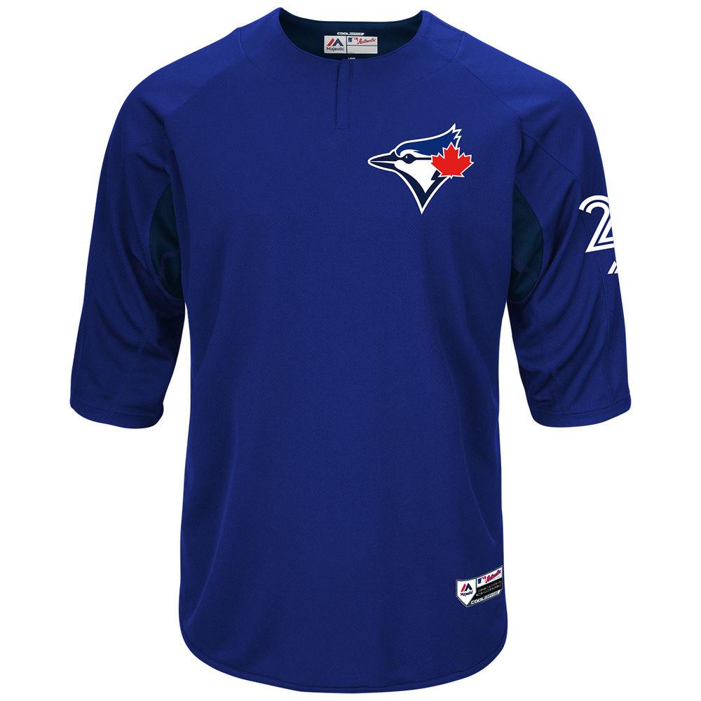 マジェスティック Majestic メンズ トップス【Toronto Blue Jays Adult Troy Tulowitzki Authentic Collection On-Field 3/4-Sleeve Batting Practice Jersey】Royal