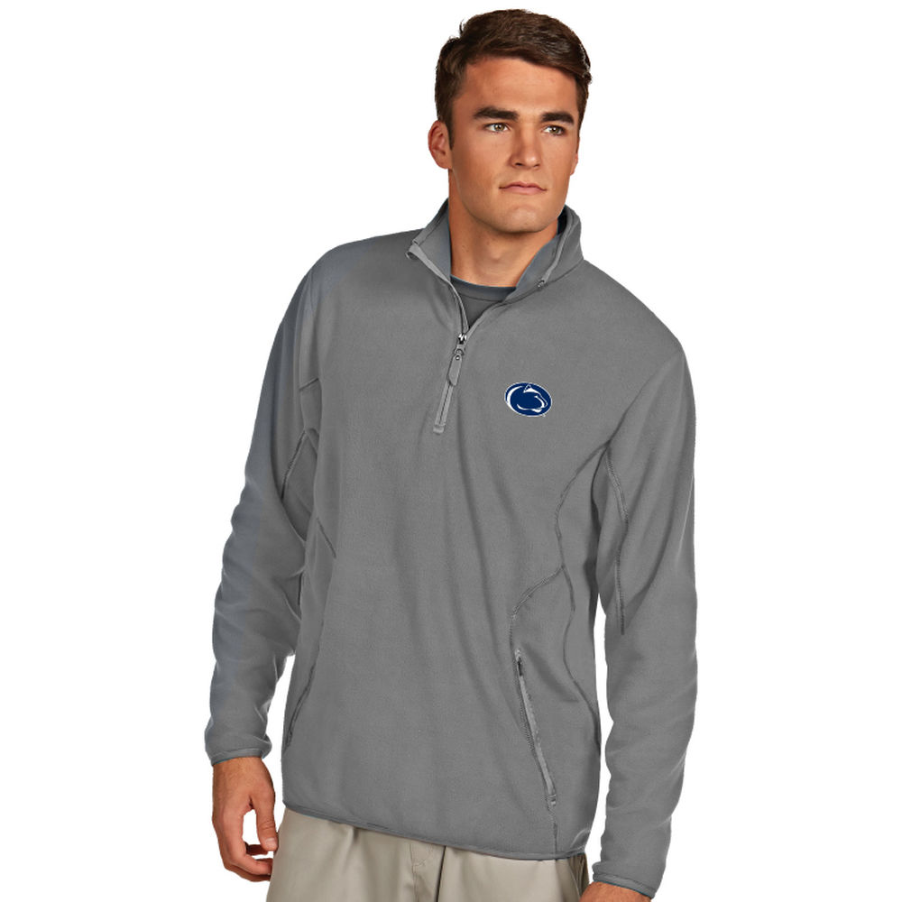 アンティグア Antigua メンズ トップス フリース【Penn State Nittany Lions Ice Quarter Zip Polar Fleece】Silver