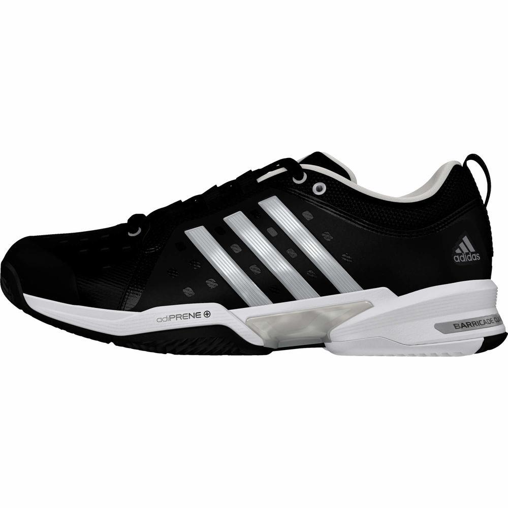 アディダス adidas メンズ テニス シューズ・靴【Barricade Classic Wide 4E Tennis Shoes】Black/White/Silver