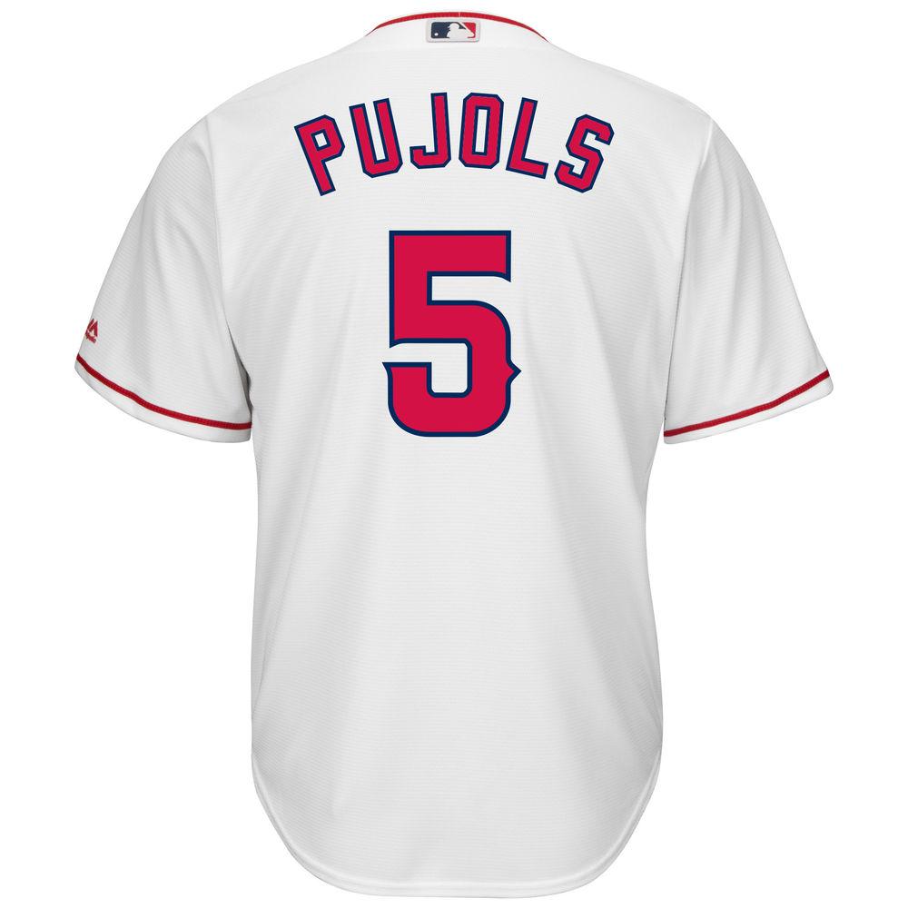 マジェスティック Majestic メンズ トップス【Los Angeles Angels of Anaheim Albert Pujols Adult Cool Base Replica Jersey】White