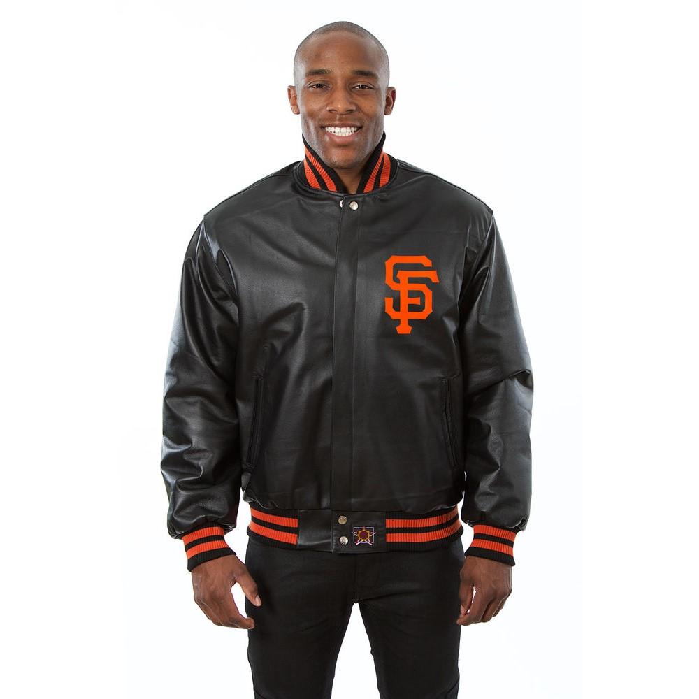 JH デザイン JH Design メンズ アウター レザージャケット【San Francisco Giants Adult Leather Jacket】Black