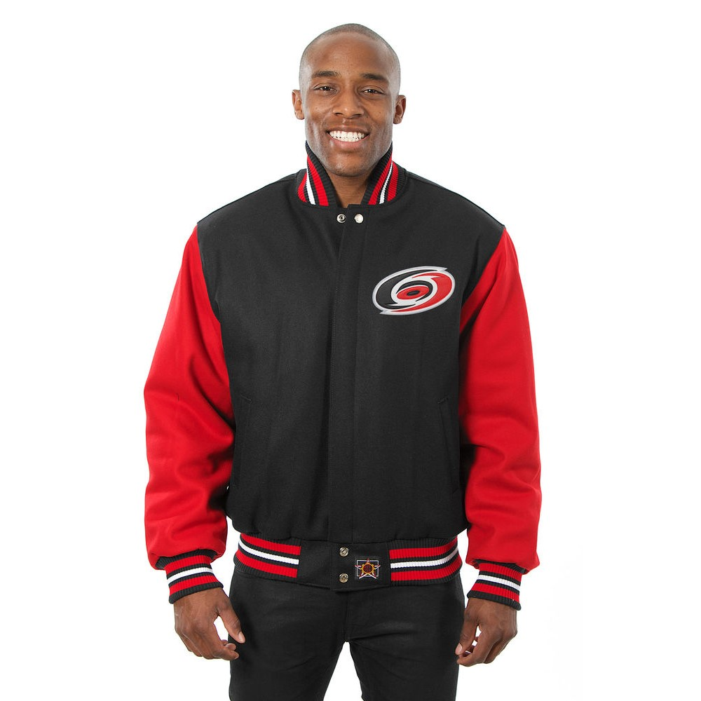 JH デザイン JH Design メンズ アウター ジャケット【Carolina Hurricanes Adult Wool Jacket】Black/Red