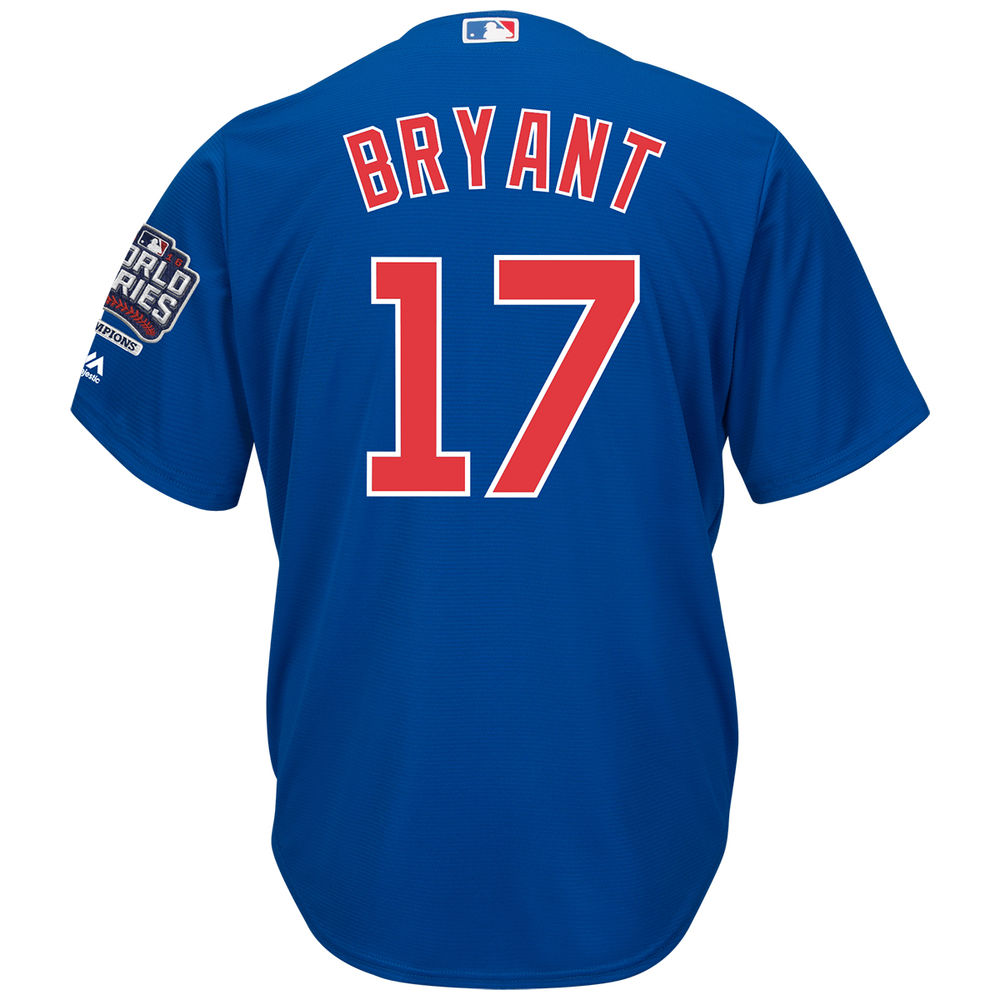 マジェスティック Majestic メンズ トップス【Chicago Cubs Adult Kris Bryant World Series Champions Cool Base Jersey】Royal