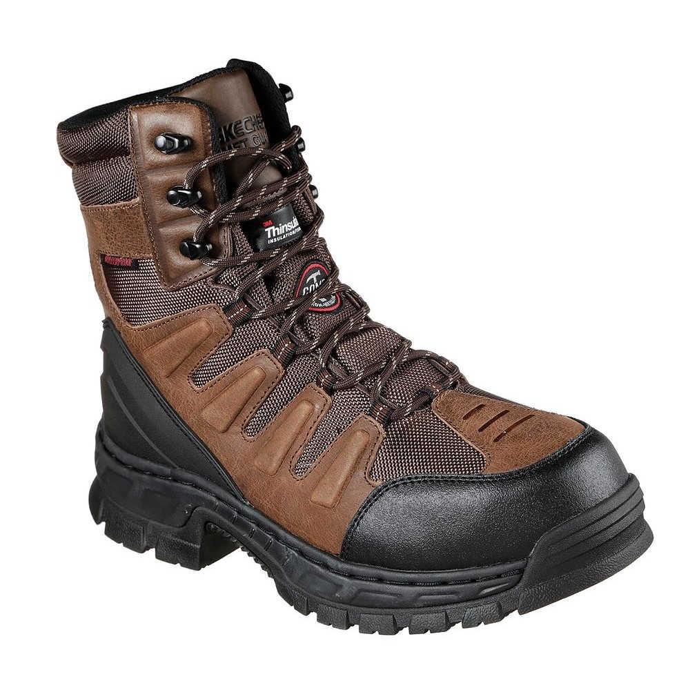 スケッチャーズ Skechers メンズ シューズ・靴 ブーツ【Vinten Lanham Composite Toe Boot】Brown
