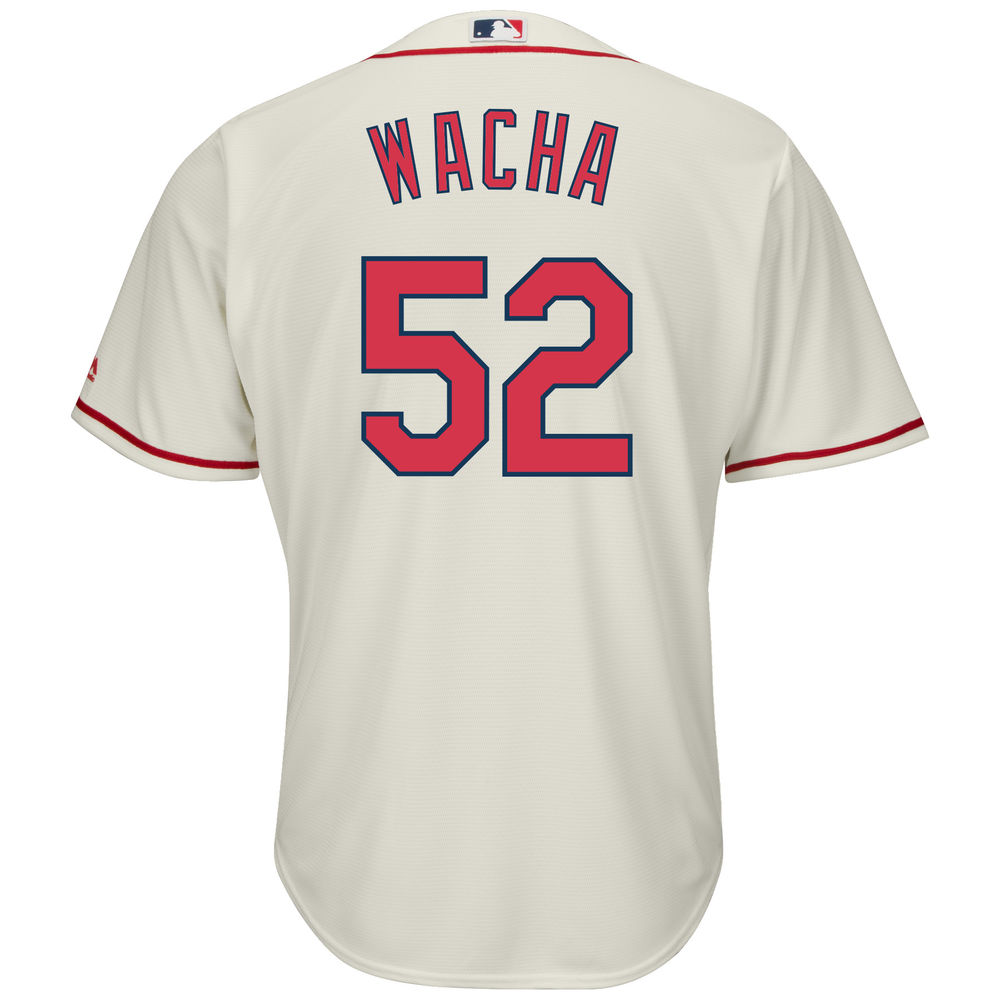 マジェスティック Majestic メンズ トップス【St. Louis Cardinals Michael Wacha Adult Cool Base Replica Jersey】Ivory