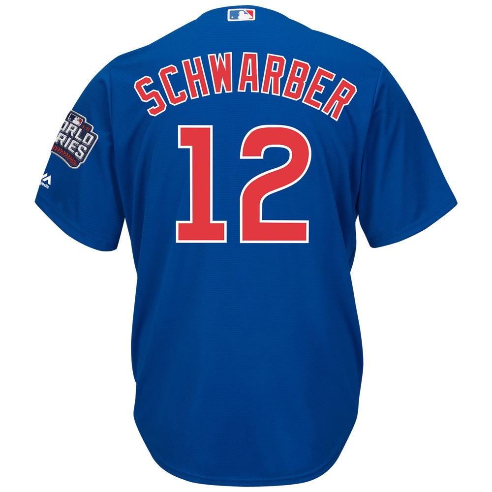 マジェスティック Majestic メンズ トップス【Chicago Cubs Adult Kyle Schwarber World Series Cool Base Jersey】Royal