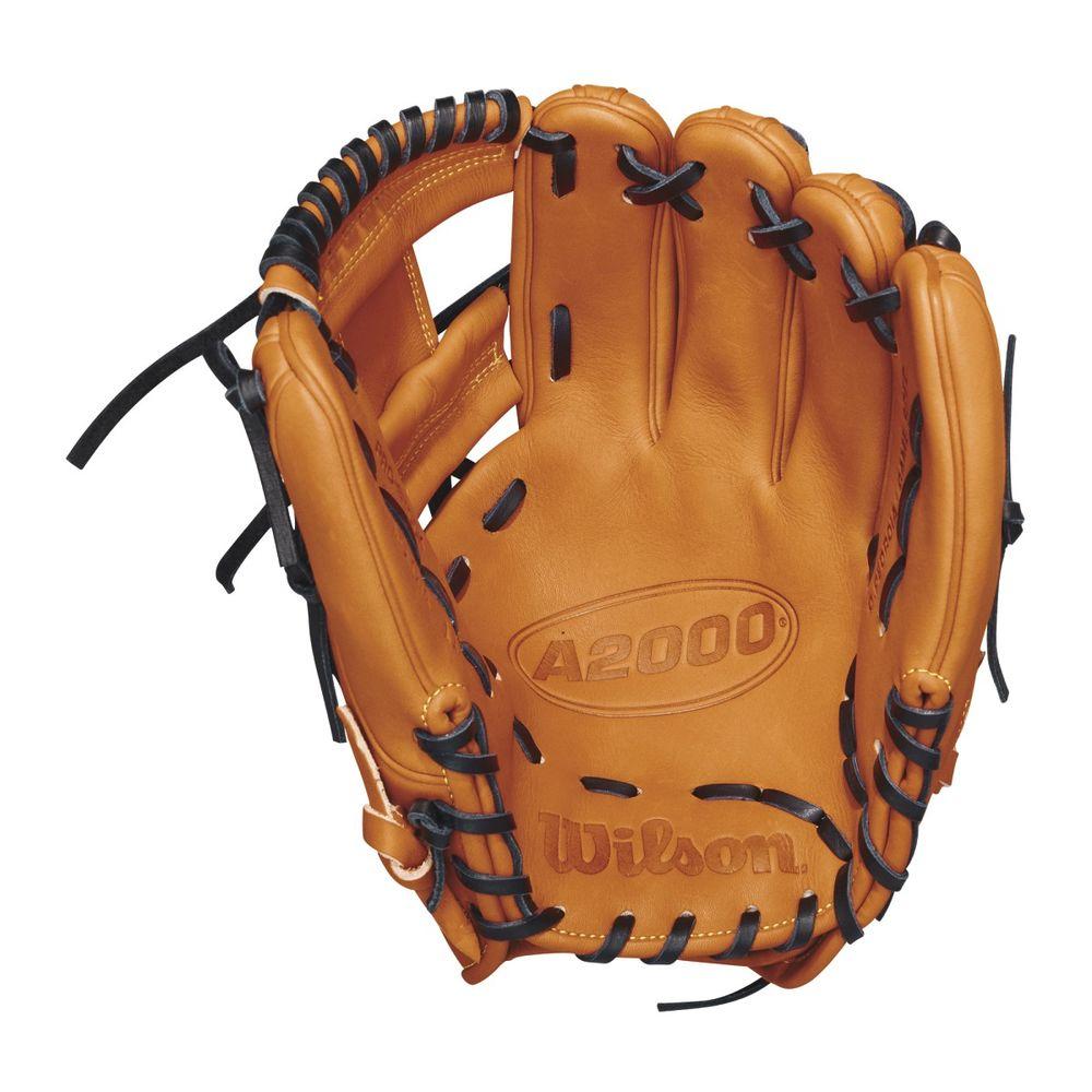 ウィルソン Wilson ユニセックス 野球 グローブ【2018 A2000 11.5 Inch Right Hand Throw Baseball Glove】Orange/Black